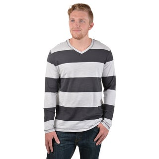 Vance Co. Men's Striped V-neck Shirt