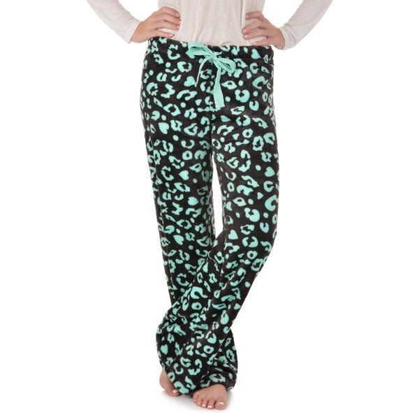 Journee Collection Women's Plush Printed Lounge Pants