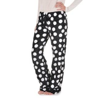 Journee Collection Women's Plush Microfiber Fleece Lounge Pants