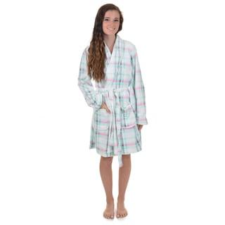 Journee Collection Women's Plush Microfiber Fleece Robe