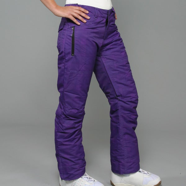 Zonal Women's 'Pint' Purple Snowboard Pants Large Size (As Is Item)