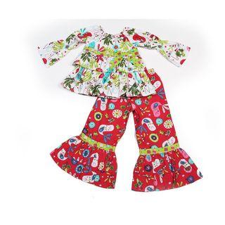 Jelly the Pug Jelly the Pug Girl's Christmas Day Nicola Playwear Set