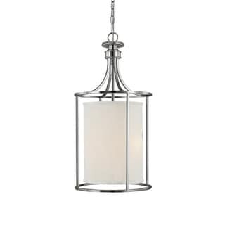 Capital Lighting Midtown Collection 2-light Polished Nickel Foyer Fixture