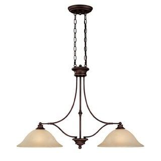 Capital Lighting Belmont Collection 2-light Burnished Bronze Island Fixture