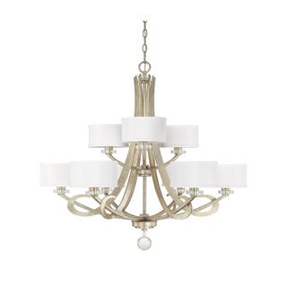 Capital Lighting Hutton Collection 9-light Winter Gold Chandelier