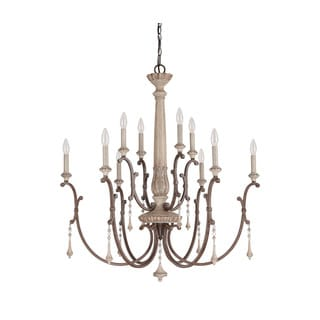 Capital Lighting Chateau Collection 10-light French Oak Chandelier