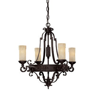 Capital Lighting River Crest Collection 4-light Rustic Iron Chandelier