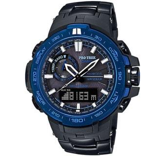 Casio ProTrek PRW6000SYT-1 Black Blue Stainless Steel Watch