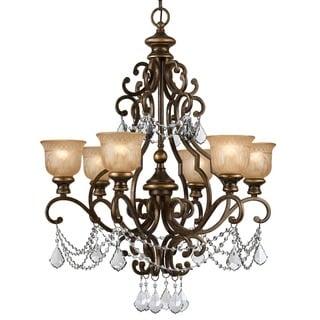 Crystorama Norwalk Collection 6-light Bronze Umber Chandelier