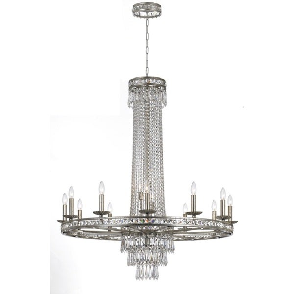 Crystorama Mercer Collection 16-light Olde SIlver Chandelier 16654040