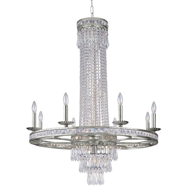 Crystorama Mercer Collection 11-light Olde SIlver Chandelier 16654042