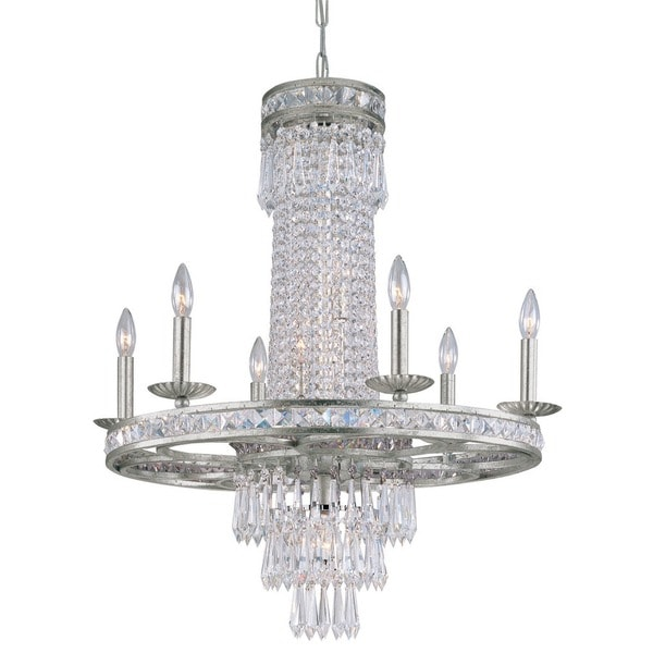 Crystorama Mercer Collection 10-light Olde SIlver Chandelier 16654044