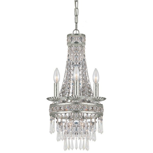 Crystorama Mercer Collection 4-light Olde SIlver Mini Chandelier 16654048