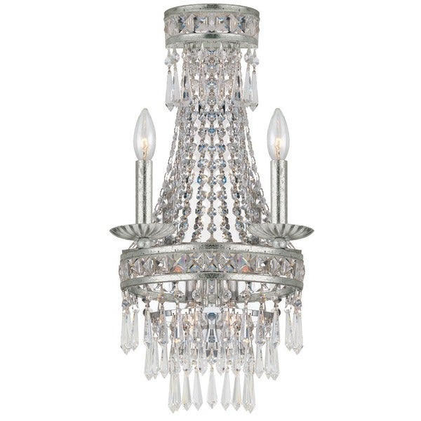Crystorama Mercer Collection 2-light Olde SIlver Wall Sconce 16654059