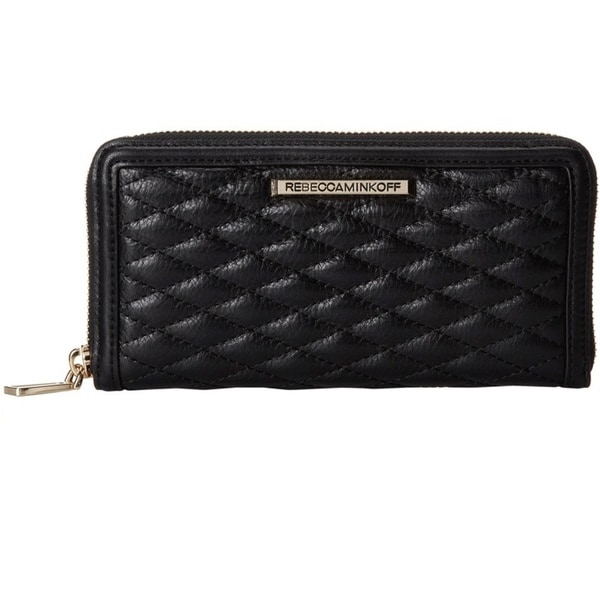 Rebecca Minkoff Quilted Ava Zip Wallet - Black
