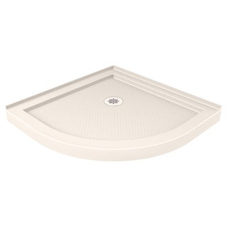 DreamLine SlimLine 33 in. D x 33 in. W Quarter Round Shower Base in Biscuit Color
