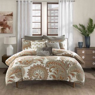 INK+IVY Mira 100% Cotton Paisley Spice Comforter Set