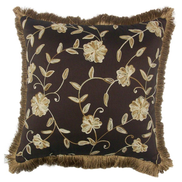 Lancaster Brush Fringe Decorative 20-inch Throw Pillow