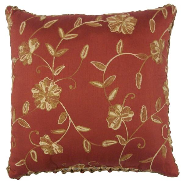 Lancaster Berry Trim Decorative 18-inch Throw Pillow