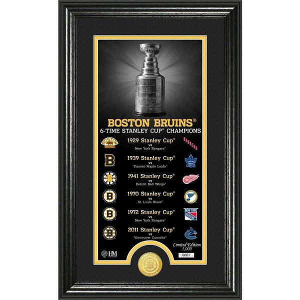 "Boston Bruins ""Legacy"" Supreme Bronze Coin Panoramic Photo Mint 16655013"