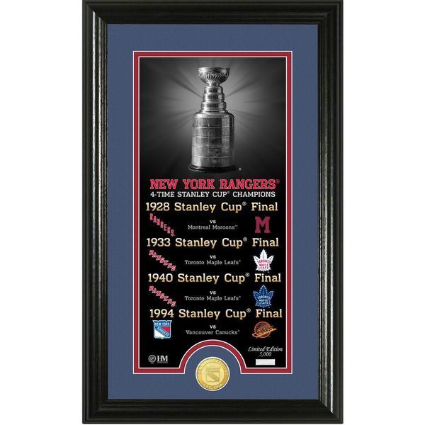 "New York Rangers ""Legacy"" Supreme Bronze Coin Panoramic Photo Mint 16655038"