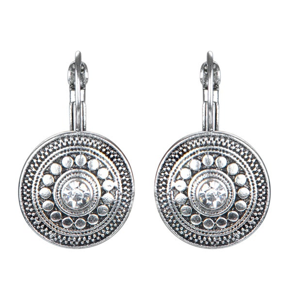 Silver Tribal Antique Dangle Earrings