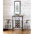 Furniture of America Daimon Industrial Height Adjustable Bar Stool (Set of 2)