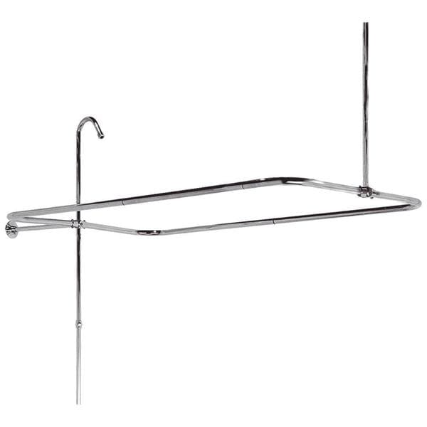 End Mount Brass Shower Riser with Enclosure in Chrome