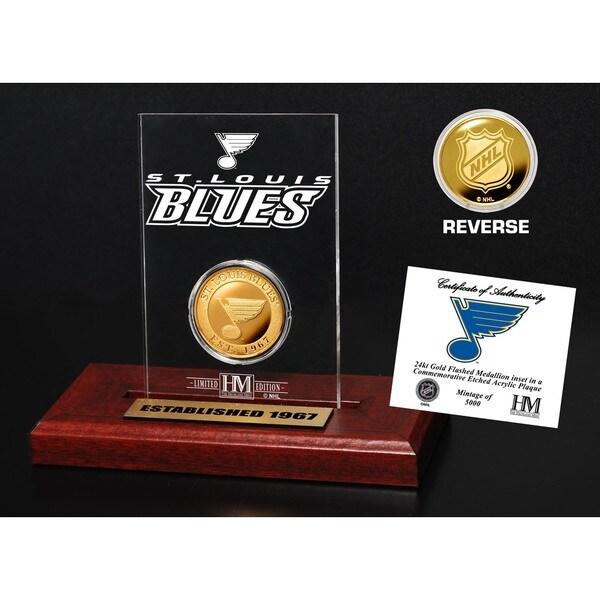 St. Louis Blues Etched Acrylic Desktop