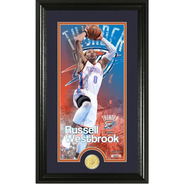 """Russell Westbrook """"Supreme"""" Bronze Coin Panoramic Photo Mint"""