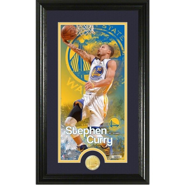 """Stephen Curry """"Supreme"""" Bronze Coin Panoramic Photo Mint"""