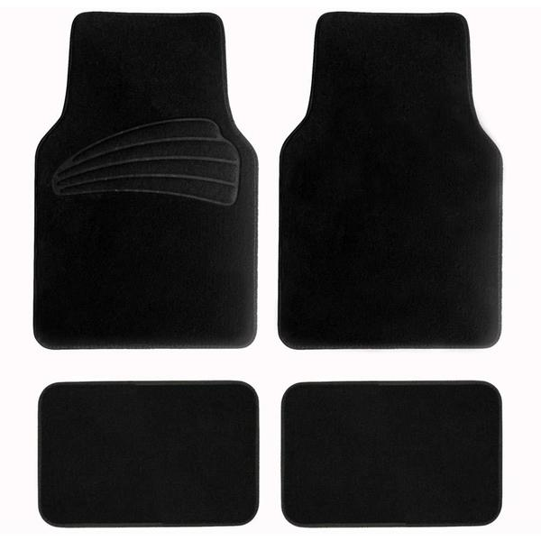 FH Group Black Premium Carpet Floor Mats
