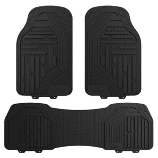 FH Group Black Supreme Rubber Trimmable Heavy Duty Floor Mats