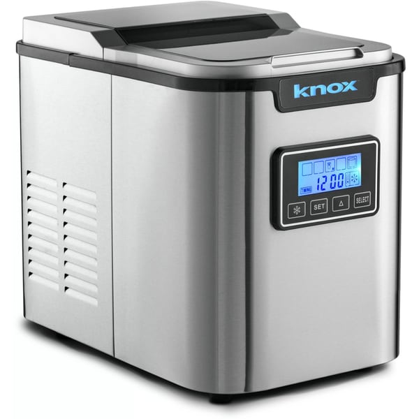 Knox KN-IM27SS Stainless Steel 2.8-Liter Water Reservoir Portable Ice Maker
