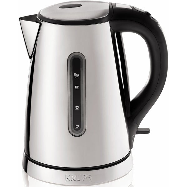 KRUPS BW730D Silver 1.7-Liter Breakfast Set Electric Kettle with Chrome Stainless Steel Housing