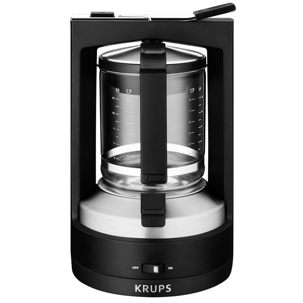KRUPS KM468950 Black 10-Cup Moka Brewer Filter Coffee Maker