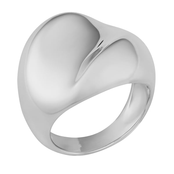 Argento Italia Sterling Silver High Polish Concave Wide Ring (size 6)