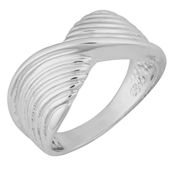 Argento Italia Sterling Silver High Polish Ribbon Style Ring (size 9)