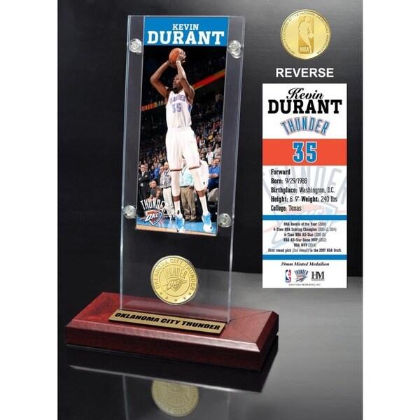 Kevin Durant Ticket & Bronze Coin Desktop Acrylic 16655593