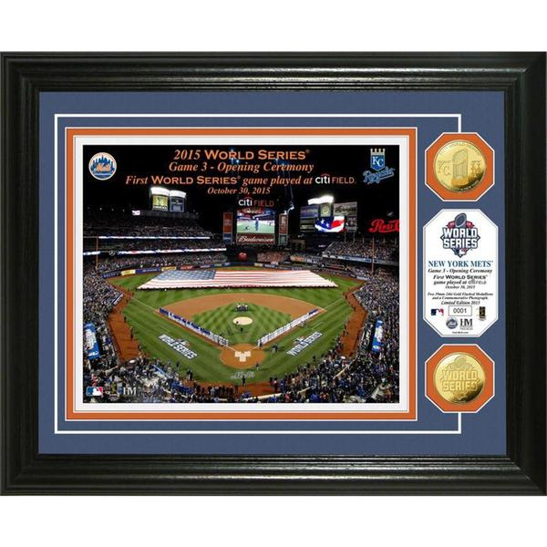 "New York Mets 2015 World Series ""Opening Ceremony"" Gold Coin Photo Mint"
