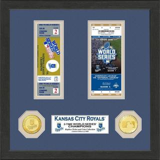Kansas City Royals World Series Champions Ticket Collection and Bronze Coin Photo Mint