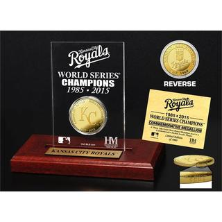 """Kansas City Royals """"2-Time World Series Champions"""" Gold Coin Etched Display"""