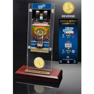 "Kansas City Royals ""2-Time World Series Champions"" Ticket & Bronze Coin Acrylic Desktop"