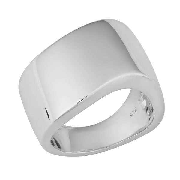 Argento Italia Sterling Silver High Polish Bold Ring (size 7)
