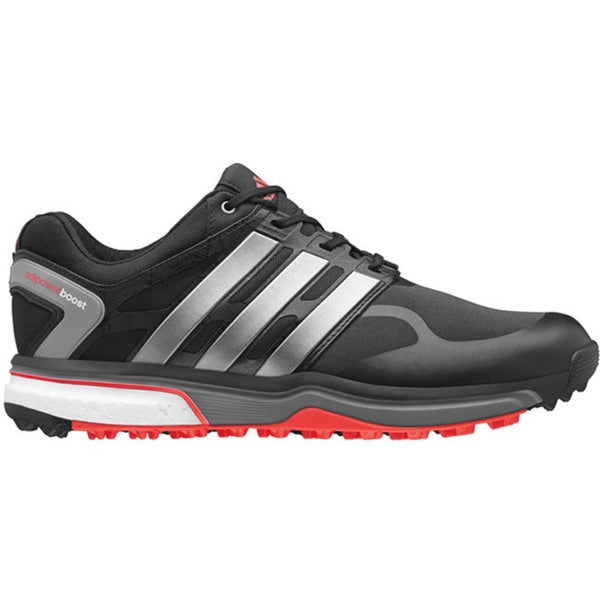 adidas adi Power Sport Boost Golf Shoe - Mens - Black/Iron Metallic/Dark Orange