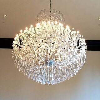 Maria Theresa 49 Light Chrome Finish Victorian Grand Crystal Chandelier Two 2 Tier Extra Large