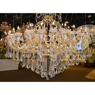 Maria Theresa 49 Light Gold Finish Victorian Grand Crystal Chandelier Two 2 Tier Extra Large