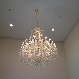 Maria Theresa 44 Light Gold Finish Victorian Grand Crystal Chandelier Four 4 Tier Extra Large