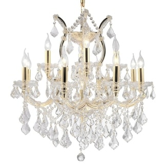Maria Theresa 13 light Gold Finish Victorian Grand Crystal Chandelier Two 2 Tier Large