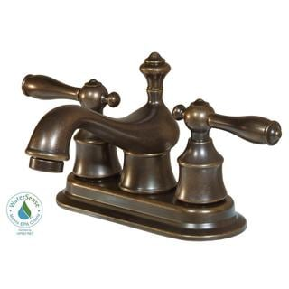 Estates 4-inch Centerset 2-Handle Bathroom Faucet in Heritage Bronze